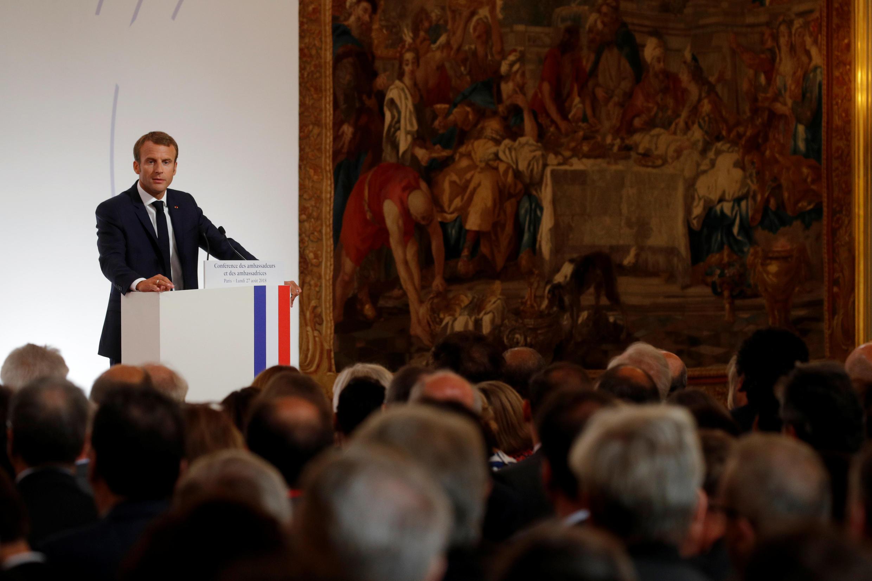 Ежегодное обращение Эмманюэля Макрона к послам Франции за рубежом, 27 августа 2018.