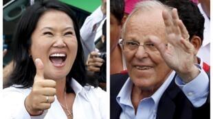 Keiko Fujimori y Pedro Pablo Kuczynski todavía deben esperar para conocer el resultado definitivo de las elecciones.