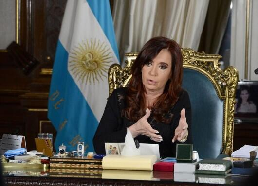 A presidente argentina, Cristina Fernández de Kirchner.