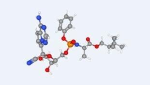 圖為美國冠狀病毒新藥瑞德西韋化學序列圖譜