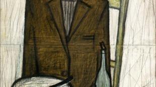 Bernard Buffet, «Le Buveur».1948. Huile sur toile,100 X 65 cm.