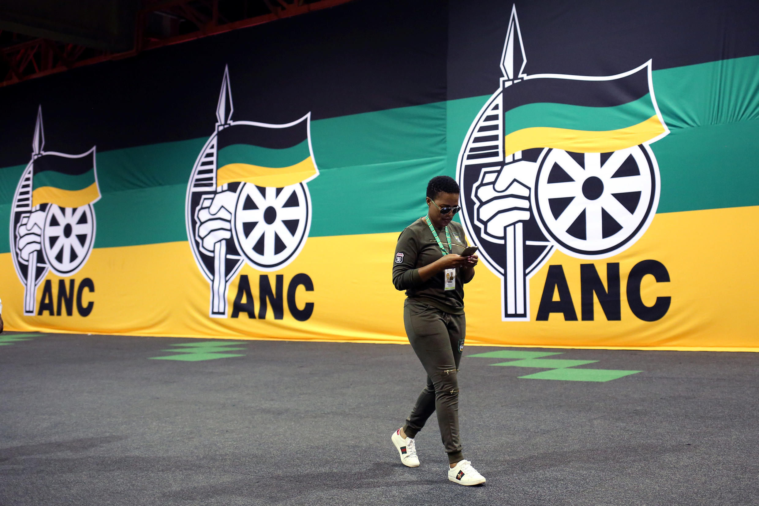 A member of the ANC arrives at the 54th party conference in Johannesburg, 16 December, 2017