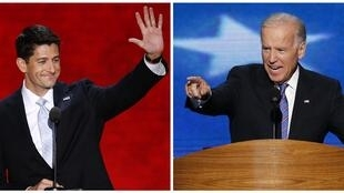 Republican Paul Ryan (L) and Democrat Joe Biden (R)