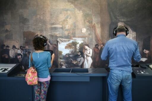 """Bức tranh """"L'atelier du peintre"""" (Xưởng vẽ của họa sĩ) một trong những kiệt tác tại Viện bảo tàng Gustave Courbet"""