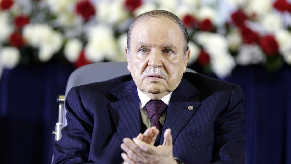 Rais wa Algeria Abdelaziz Bouteflika wakati wa kuapishwa kwa muhula wake wa nne, Aprili 28 mwaka 2014.