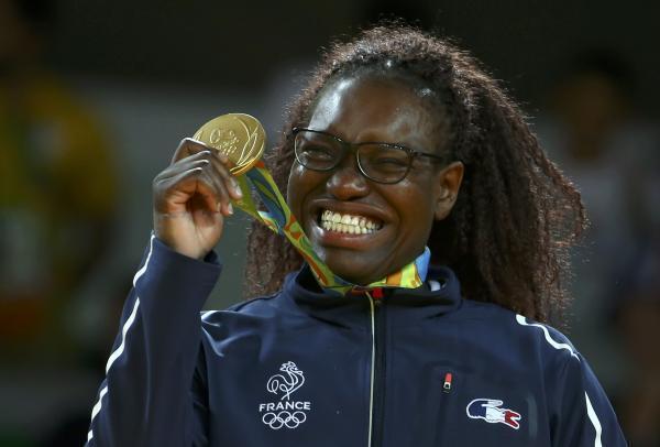 La Française Emilie Andeol, médaille d'or aux JO de Rio en judo.