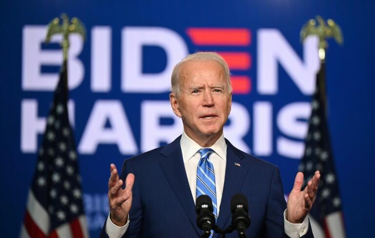 美国各大媒体11月7日宣布民主党总统候选人拜登当选。