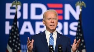 美國各大媒體11月7日宣布民主黨總統候選人拜登當選。