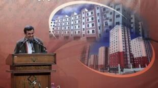 محمود احمدی نژاد در مراسم افتتاح پروژههای عمرانی استان زنجان