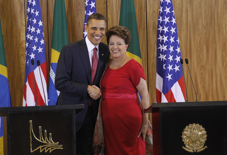 Apesar de relações cordiais entre Barack Obama (e) e Dilma Rousseff, Brasil não entrou na agenda da campanha presidencial norte-americana.
