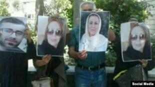 خانوادههای بازداشت شدگان روز جهانی کارگر در برابر مجلس شورای اسلامی تجمع کردند.