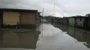 Un poblado peruano inundado por el impacto de El Niño. Perú, 2017.