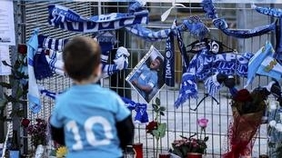 Stade Naples Hommage Diego Maradona