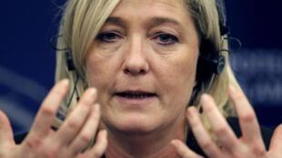 A presidente da Frente Nacional, Marine Le Pen.