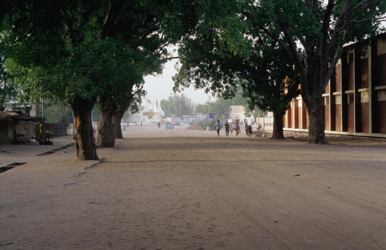 Une rue de Ndjamena, la capitale du Tchad.
