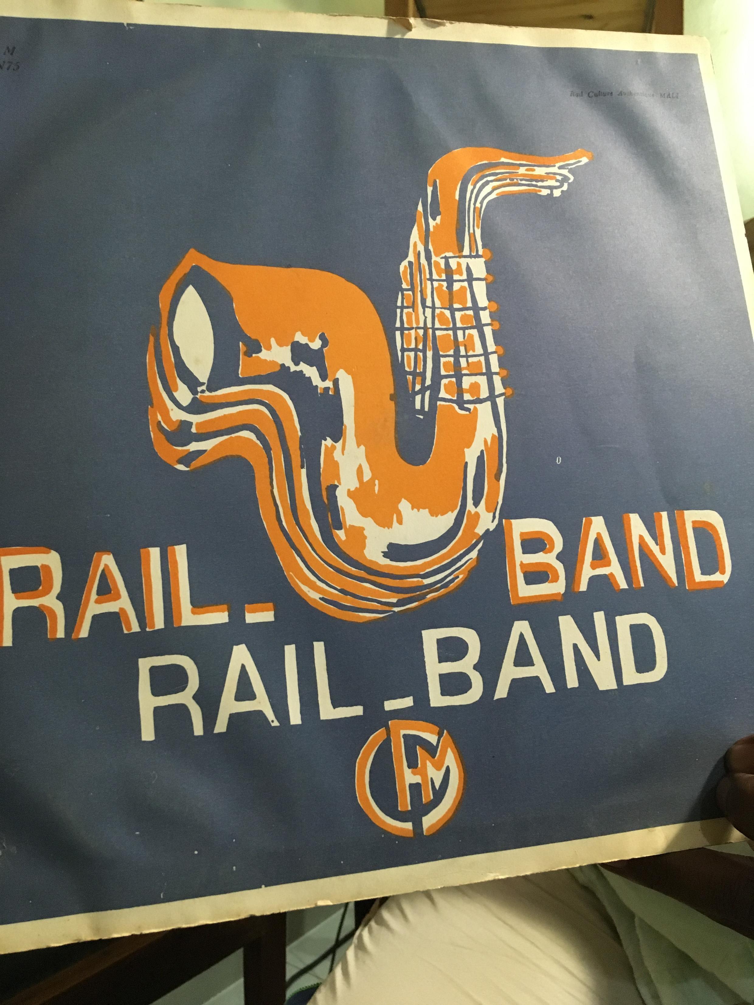 Pochette originale d'un disque vinyle du Rail Band, collection de Moustapha Diallo.