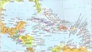 图为中美洲地图