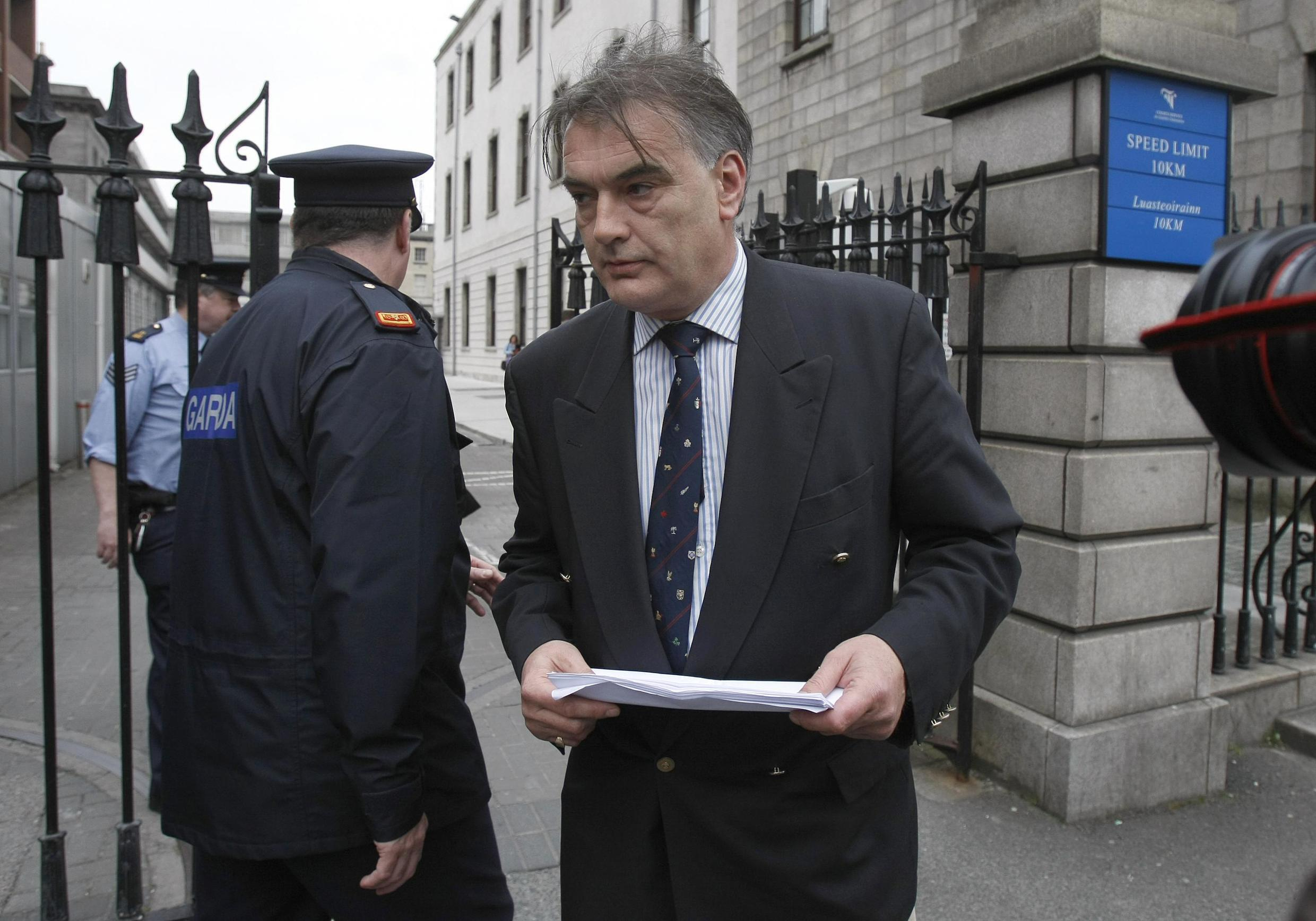 Ian Bailey at the High Court in Dublin following a European arrest warrant in connection with the death of Sophie Toscan du Plantier, 24 April 2010.