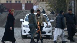Một khu nhà ở của người nước ngoài tại Kabul bị tấn công ngày 29/11/2014.