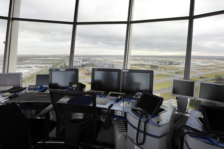 Control tower at Charles de Gaulle airport, near Paris