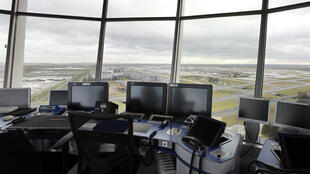 Control tower at Charles de Gaulle airport, near Paris