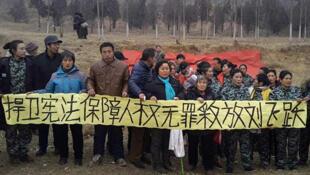 2017年1月声援刘飞跃的中国民众
