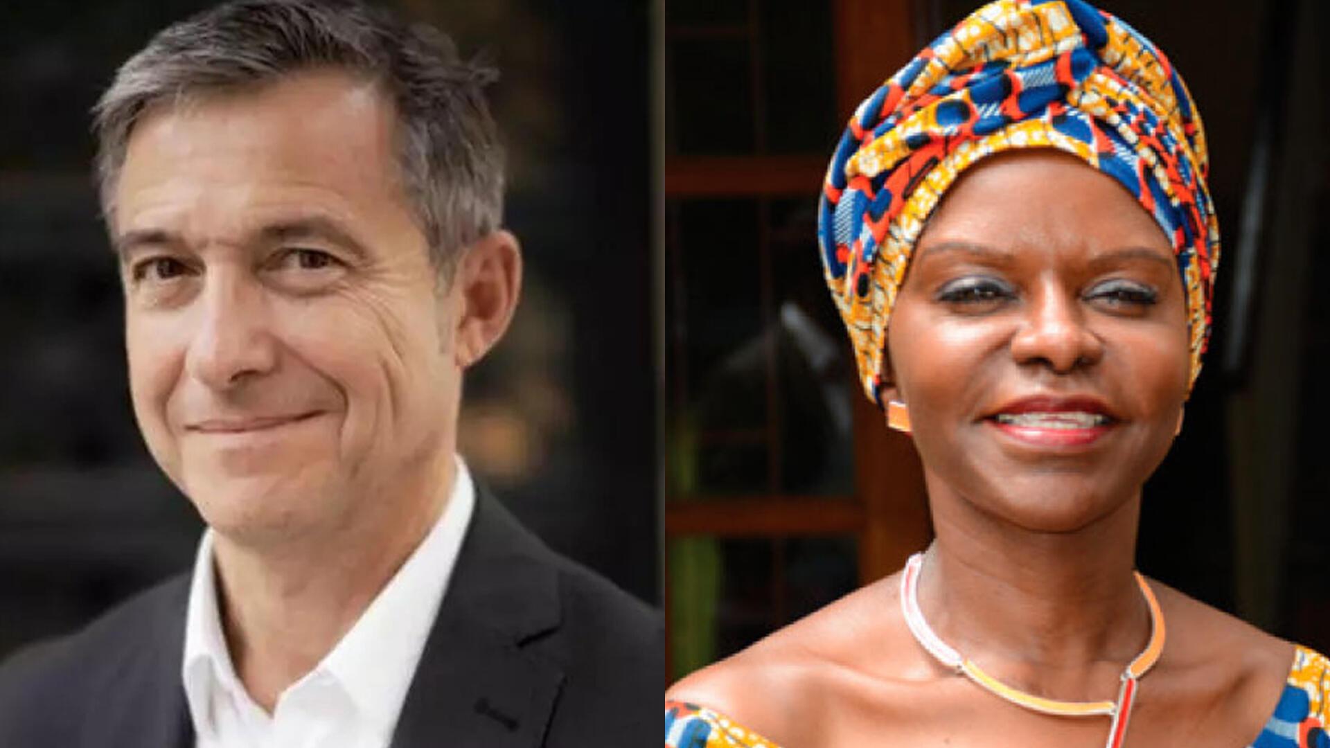 Didier Fassin (Collège de France/P. Imbert) et Francine Ntoumi (Fondation Congolaise pour la Recherche médicale, FCRM).