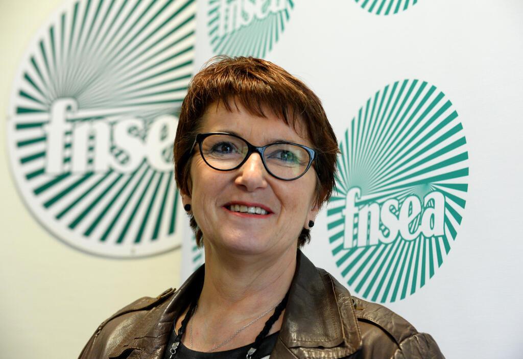 Christiane Lambert, présidente de la FNSEA.