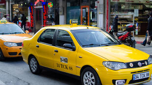 "A ""taksi"", or taxi, in Istanbul, Turkey."