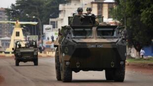 Soldados franceses en Bangui, este 6 de diciembre de 2013.