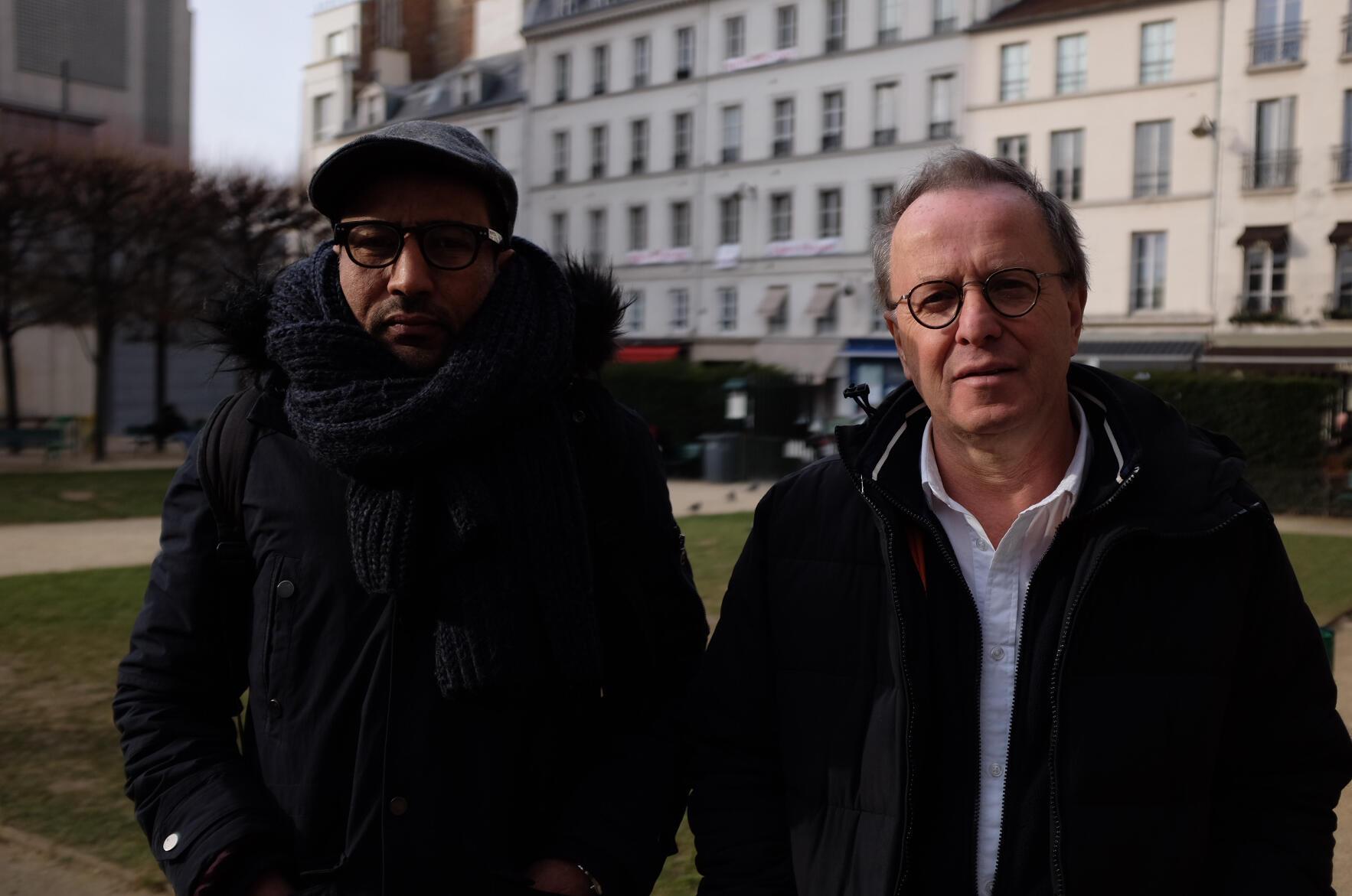 François Margolin et Lemine Ould Salem,  les réalisateurs du documentaire « Salafistes ».