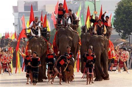Lễ hội voi Tây Nguyên.