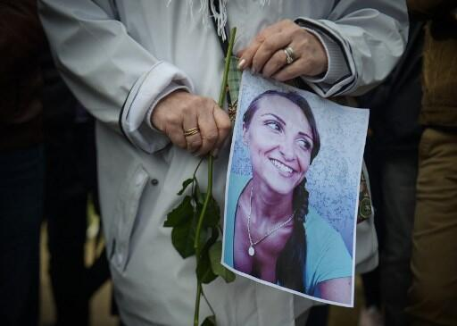 March for Julie Douib, killed by her partner in Corsica in 2019
