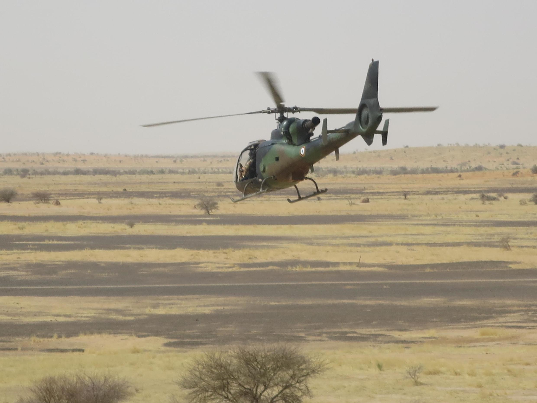 Hélicoptère Gazelle de l'opération Barkhane. (Image d'illustration)