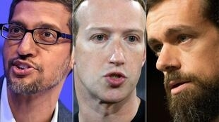 Google's Sundar Pichai, Facebook's Mark Zuckerberg and Twitter's Jack Dorsey have found themselves in the crosshairs of Democrats and Republicans in Congress