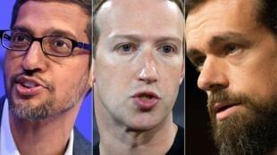 Sundar Pichai de Google, Mark Zuckerberg de Facebook et Jack Dorsey de Twitter se sont retrouvés dans la ligne de mire des démocrates et des républicains au Congrès.