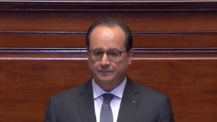 Le président François Hollande lors de son discours face au Congrès, le 16 novembre 2015.