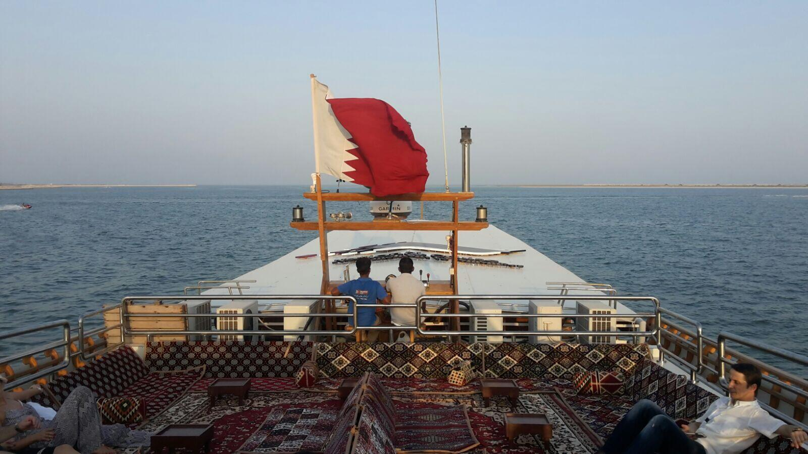 Un paseo por las costas cataríes en barco se impone. Doha, septiempre de 2017.