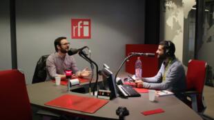 Aurélien Fouillet et Ziad Maalouf, dans le studio de RFI.