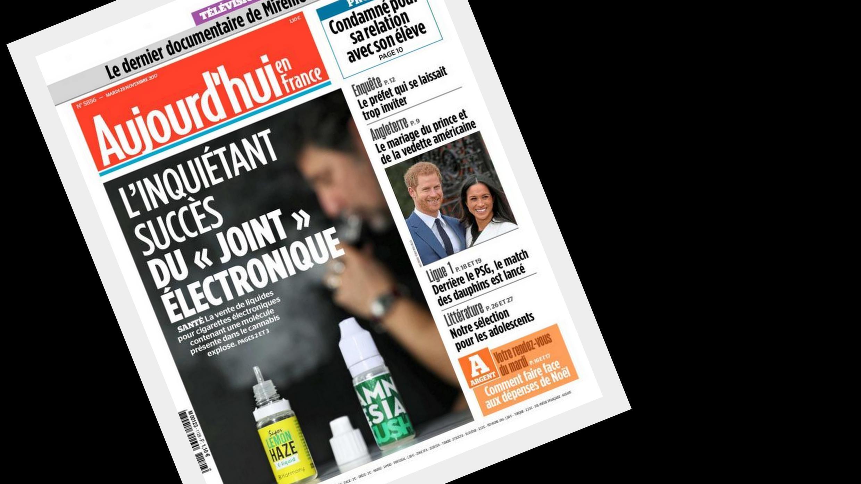 """O surgimento do """"baseado eletrônico"""" preocupa o jornal Aujourd'hui en France pelo elevado consumo de tabaco e maconha na França."""