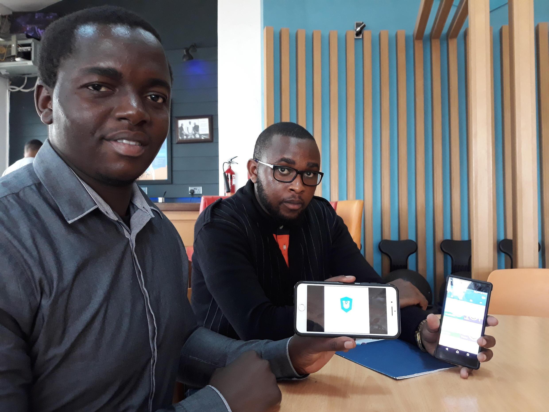 James Chegue et Marvin Makau, cofondateurs de l'application USALAMA.