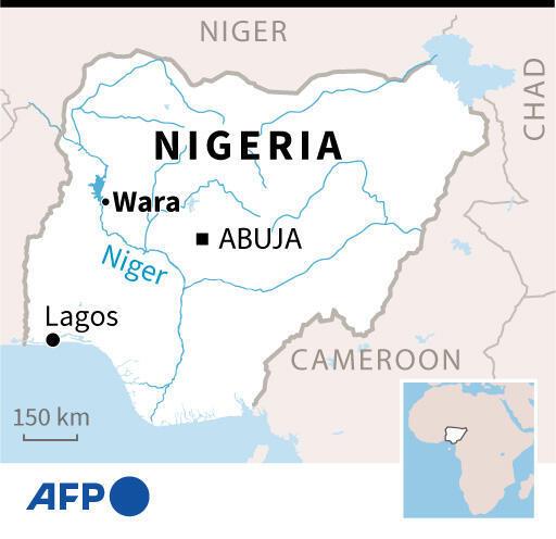 Map locating Wara in Nigeria