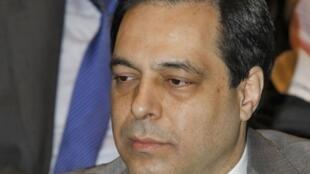 Hassan Diab em 2012, quando era Ministro da Educação no Líbano.