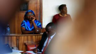 L'universitaire Stella Nyanzi lors de son procès en avril 2017 dans l'affaire de «la paire de fesses».