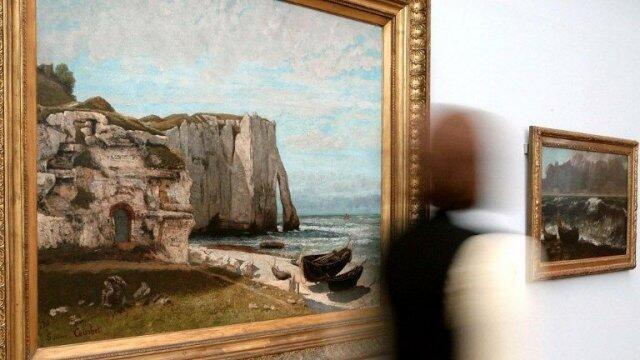 """Bức tranh nổi tiếng """"Cội nguồn nhân gian"""" che khuất phần nào các tác phẩm khác của Gustave Courbet"""