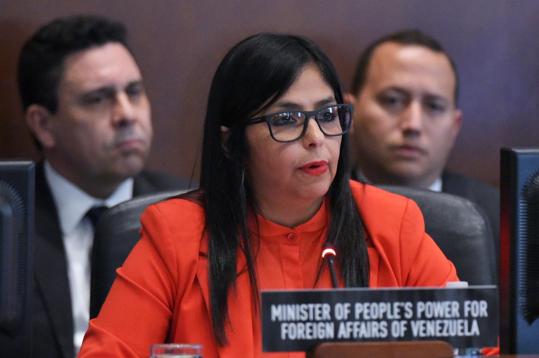 La ministra de Exteriores venezolana, Delcy Rodríguez.