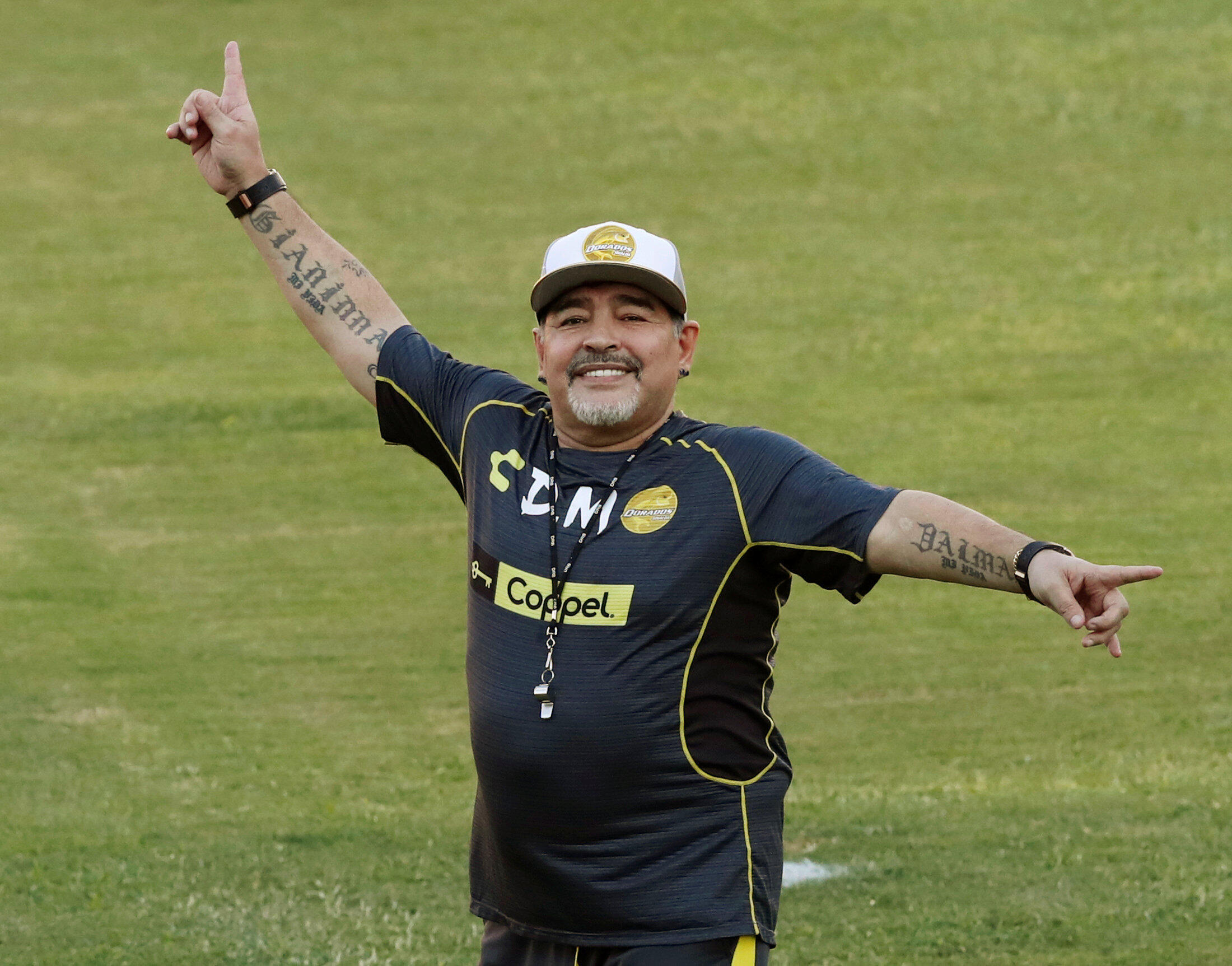Diego Maradona was coach of the Dorados de Sinaloa in the Mexican second division, in 2018-2019
