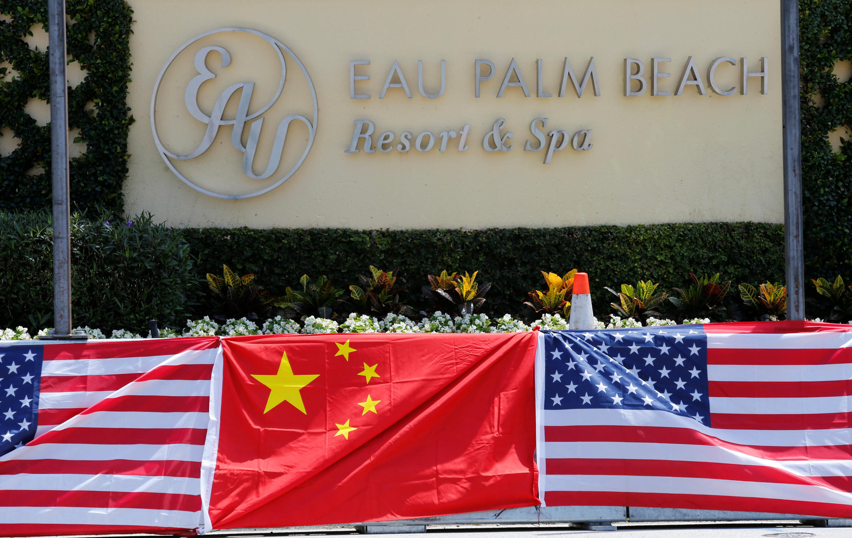 佛羅里達州美中領導人首次會晤地點附近的棕櫚灘酒店。2017年4月5日。