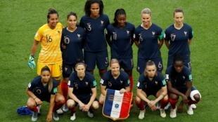 L'équipe de France de football, le 7 juin 2019, au Parc des Princes.