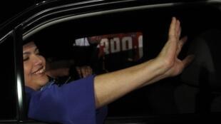 A presidente eleita do Brasil, Dilma Rousseff, no dia seguinte da eleição, em Brasília.